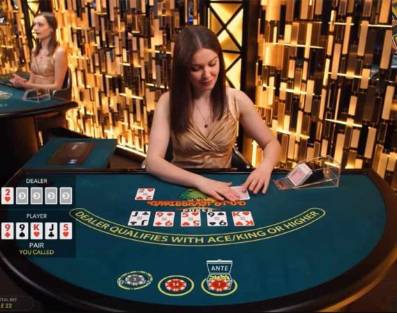 Caribbean Stud Poker bij Evolution Gaming